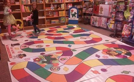 Giant live candy land game