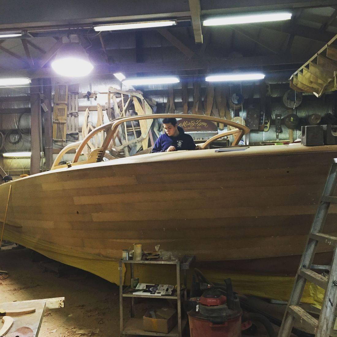 Shepherd restoration at Bergersen Boat