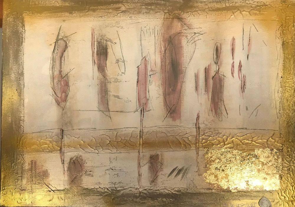 Silvia Wagner Art, Kunstausstellung, Kunst kaufen, Ausstellung, Corona, COVID-19, Stein am Rhein SH, Schweiz, Blattgold, Marmormehl, Intuition
