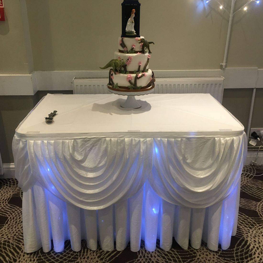 Starlight Cake Table Skirt Square Table