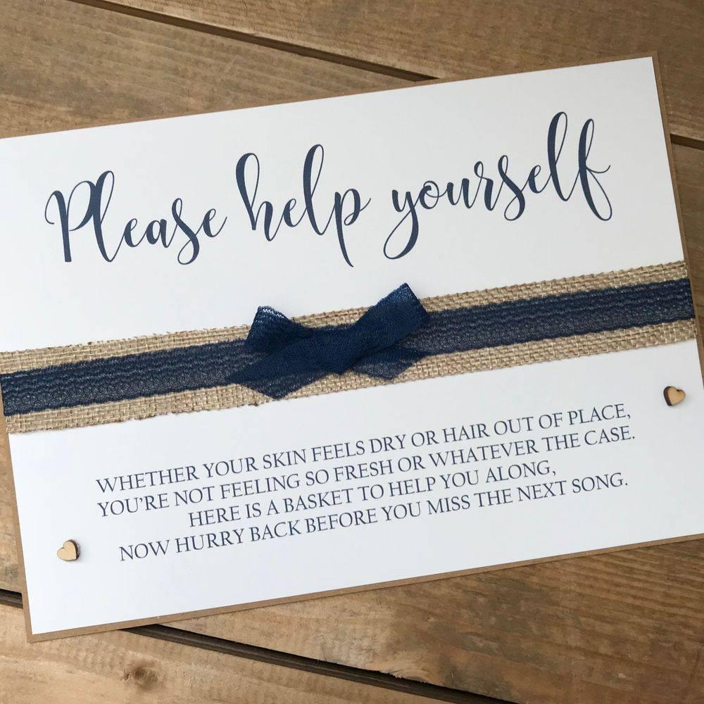 Wedding Day Signage - Bathroom Sign
