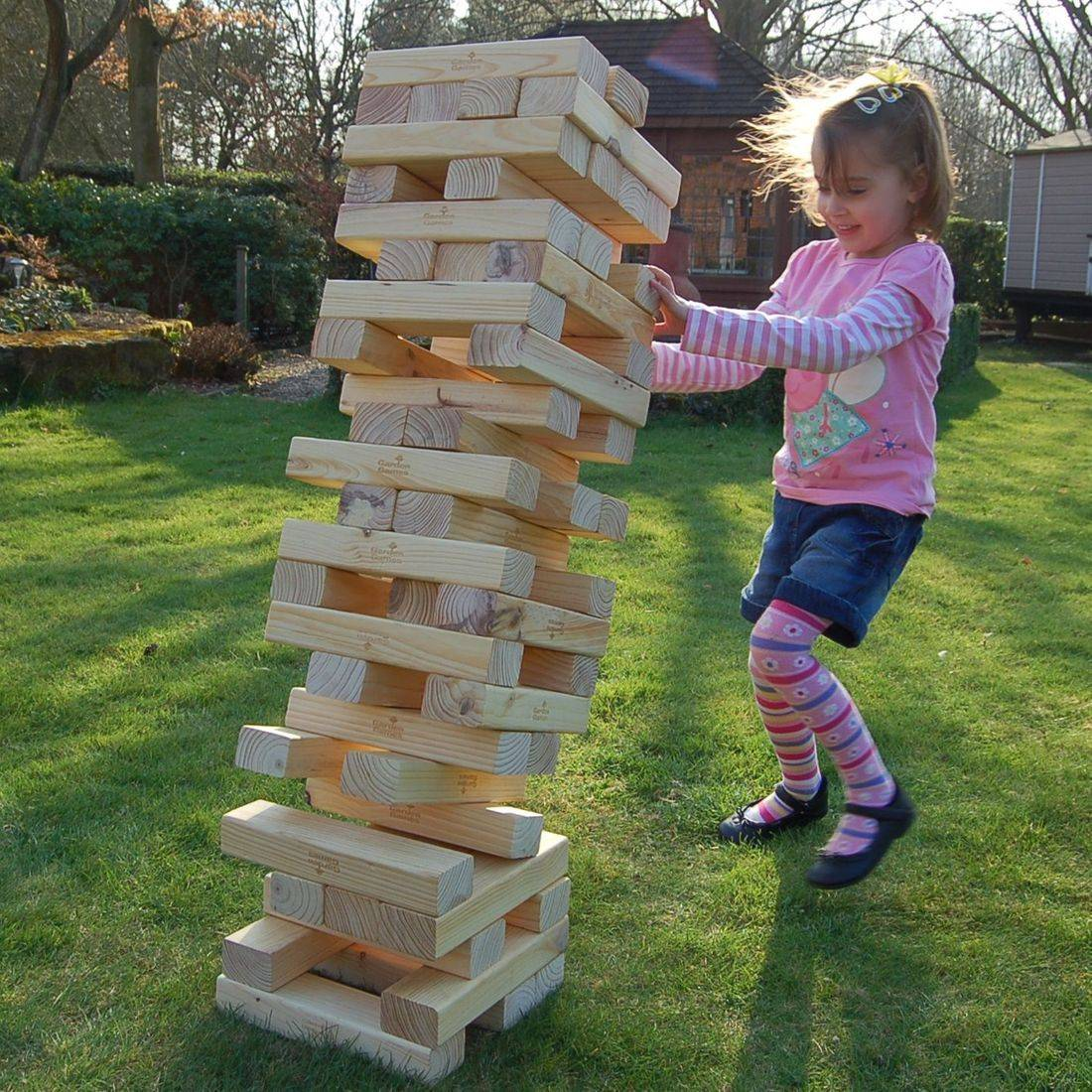 Kids playing Jenga game