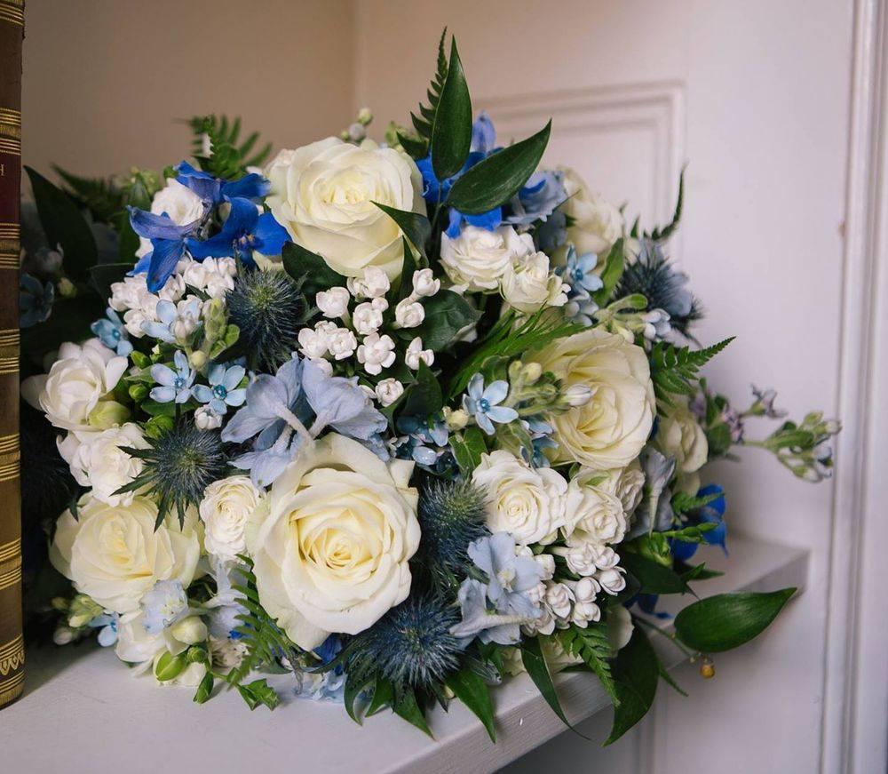 Blue White Wedding Bouquet