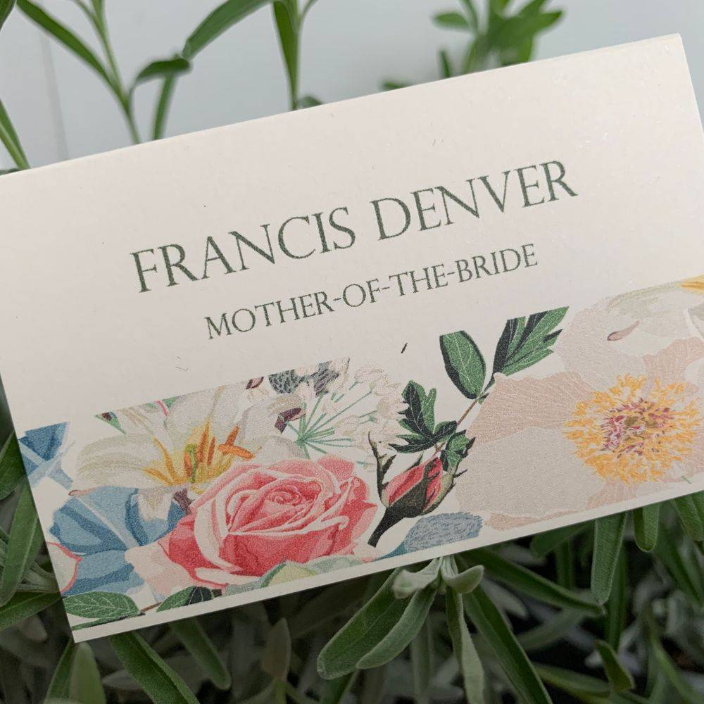 Vintage place name  card