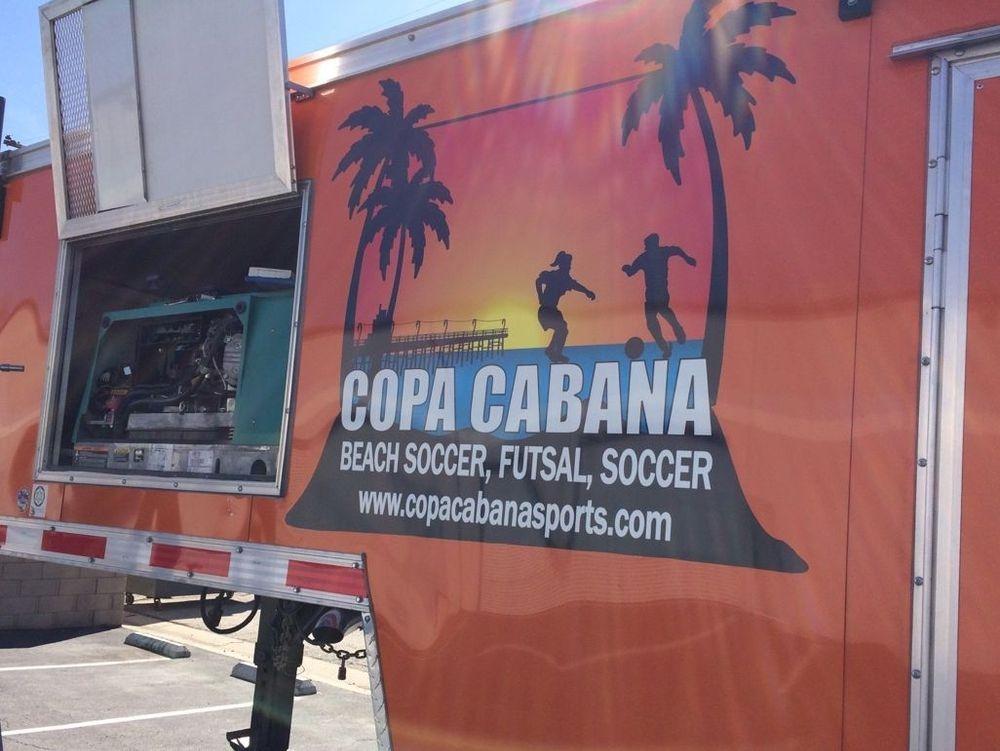 Maintenance on a soccer trailer