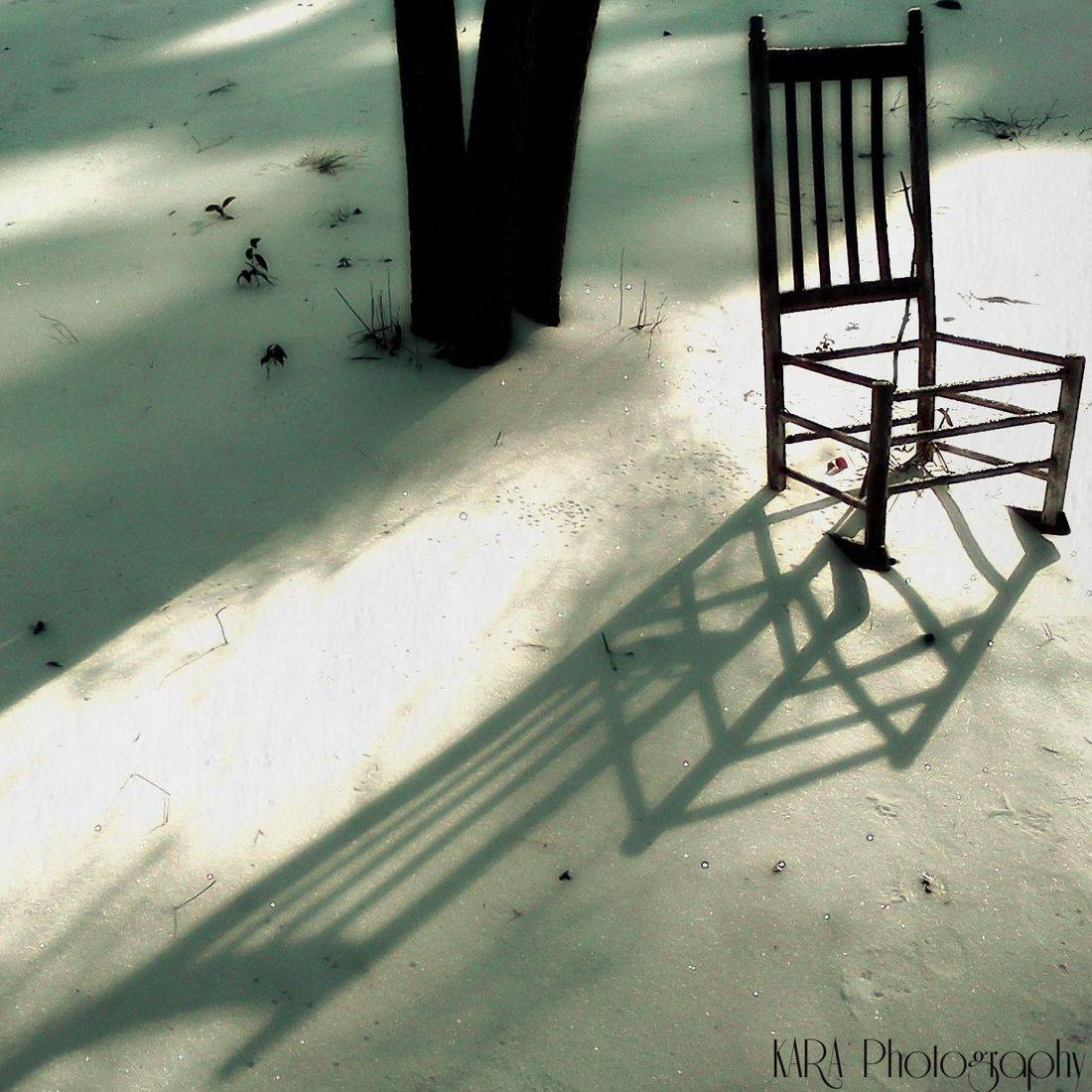 Snow, Winter, Chair