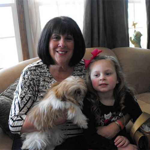 DONNA SUMNER AND AVA GRACE WITH SADIE