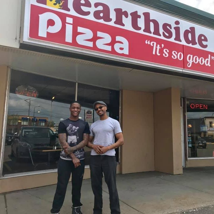 Hearthside Pizza Owner and Son