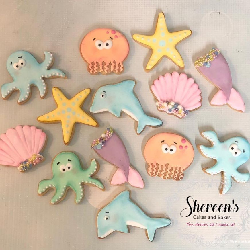 Iced Cookies Biscuits Under the sea