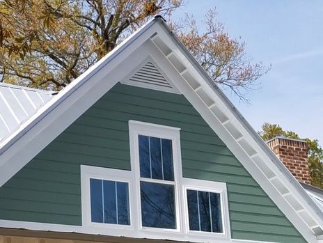 Installed triangle gable louver vents