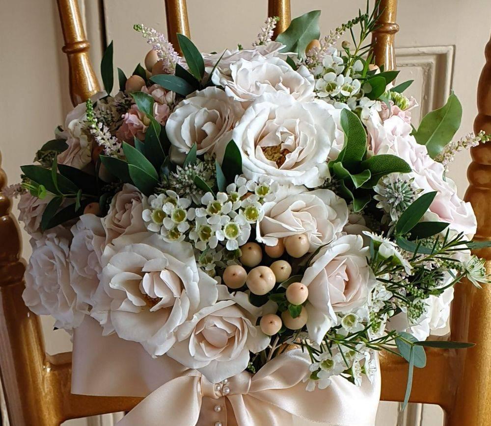 Pastel Blush Pink Bride Bouquet