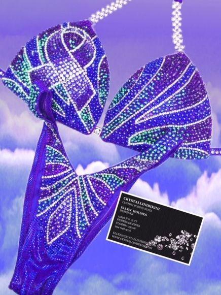 purple ribbon figure suit