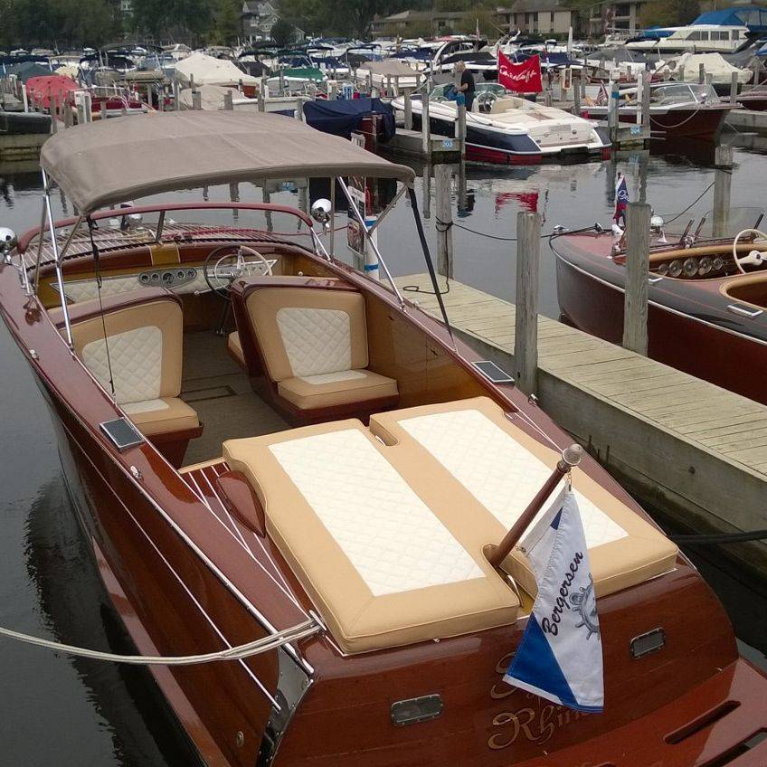 Bergersen Shepherd at antique and classic boat show
