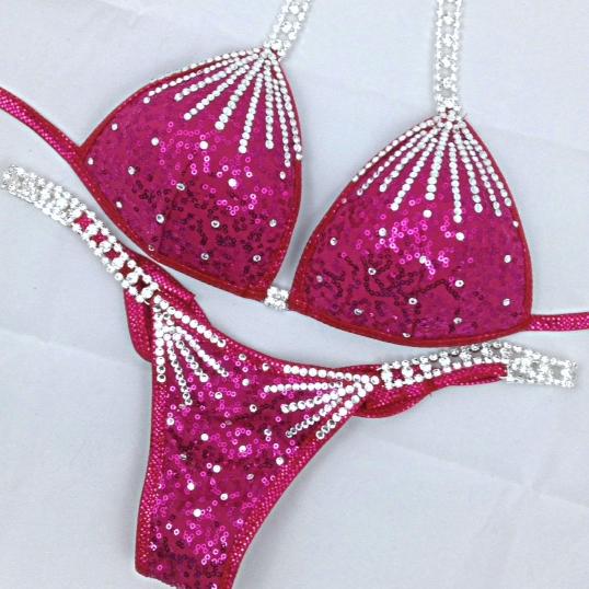 fuchsia competition bikini