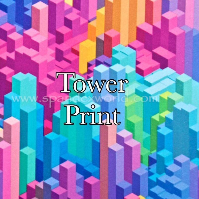 tower spandex print