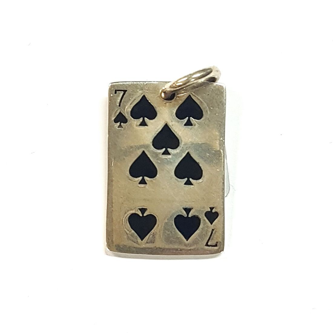 7 of spades Pendant  available at Kazbah online and our Leicester City Centre shop