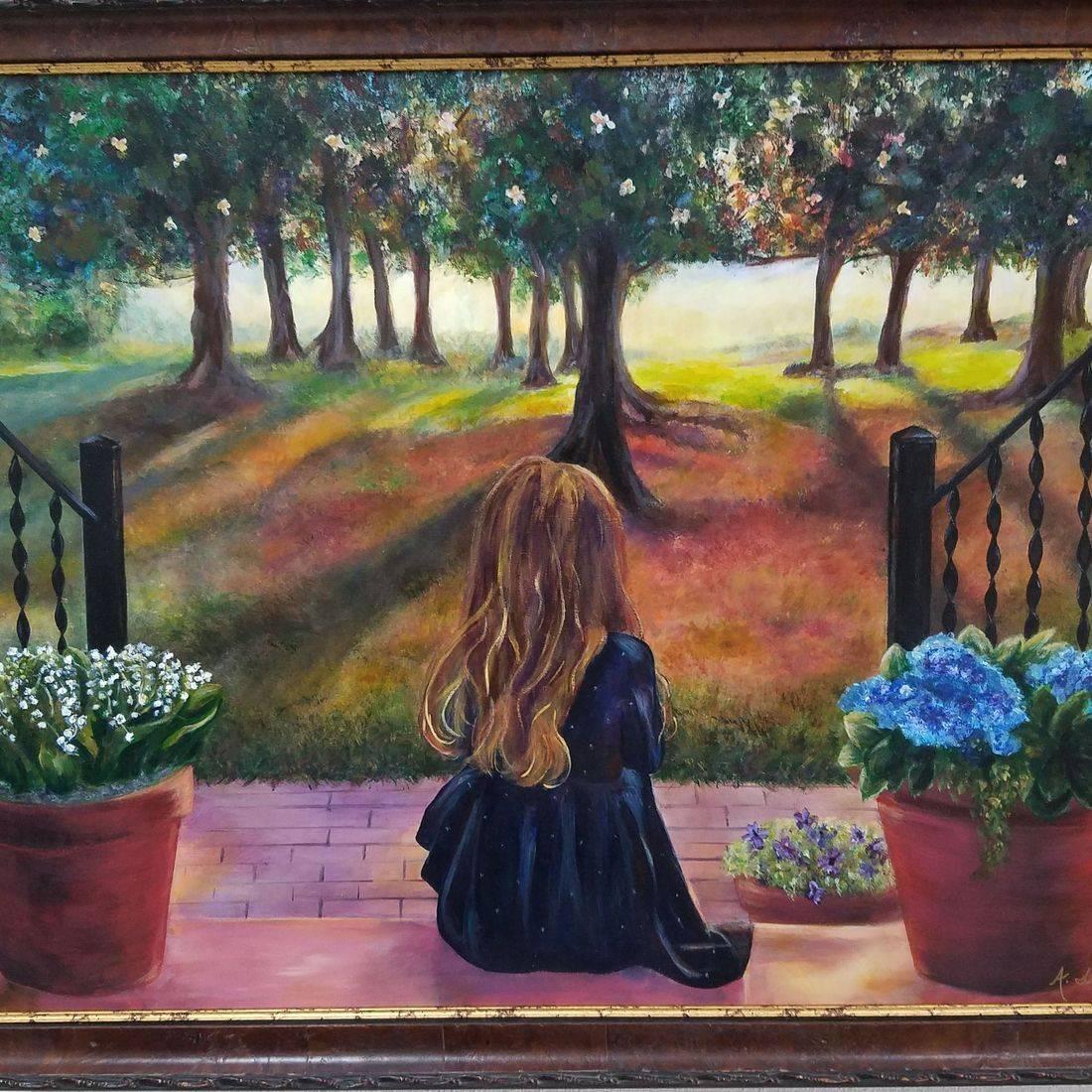 Sunset Framer oil painting