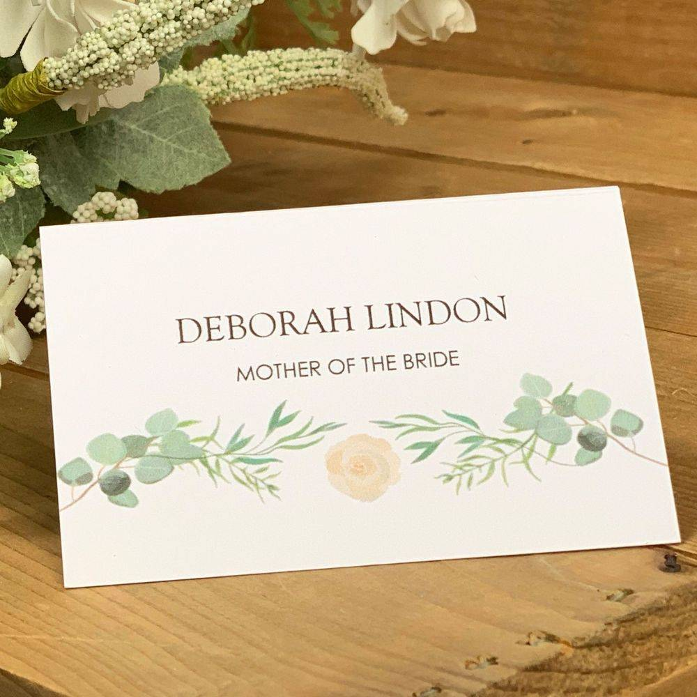 Eucalyptus and Ivory Rose Place Name