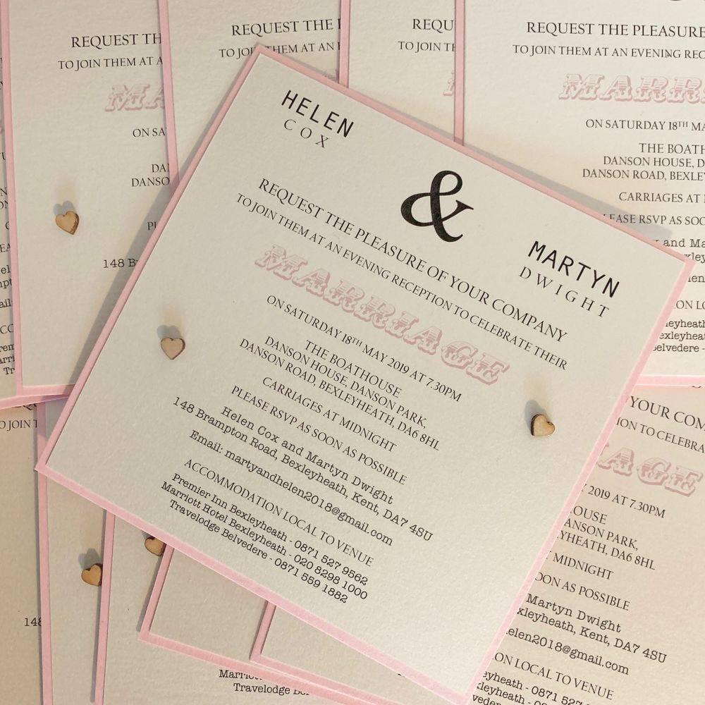 Burgundy and Gold Christmas Wedding Invitation