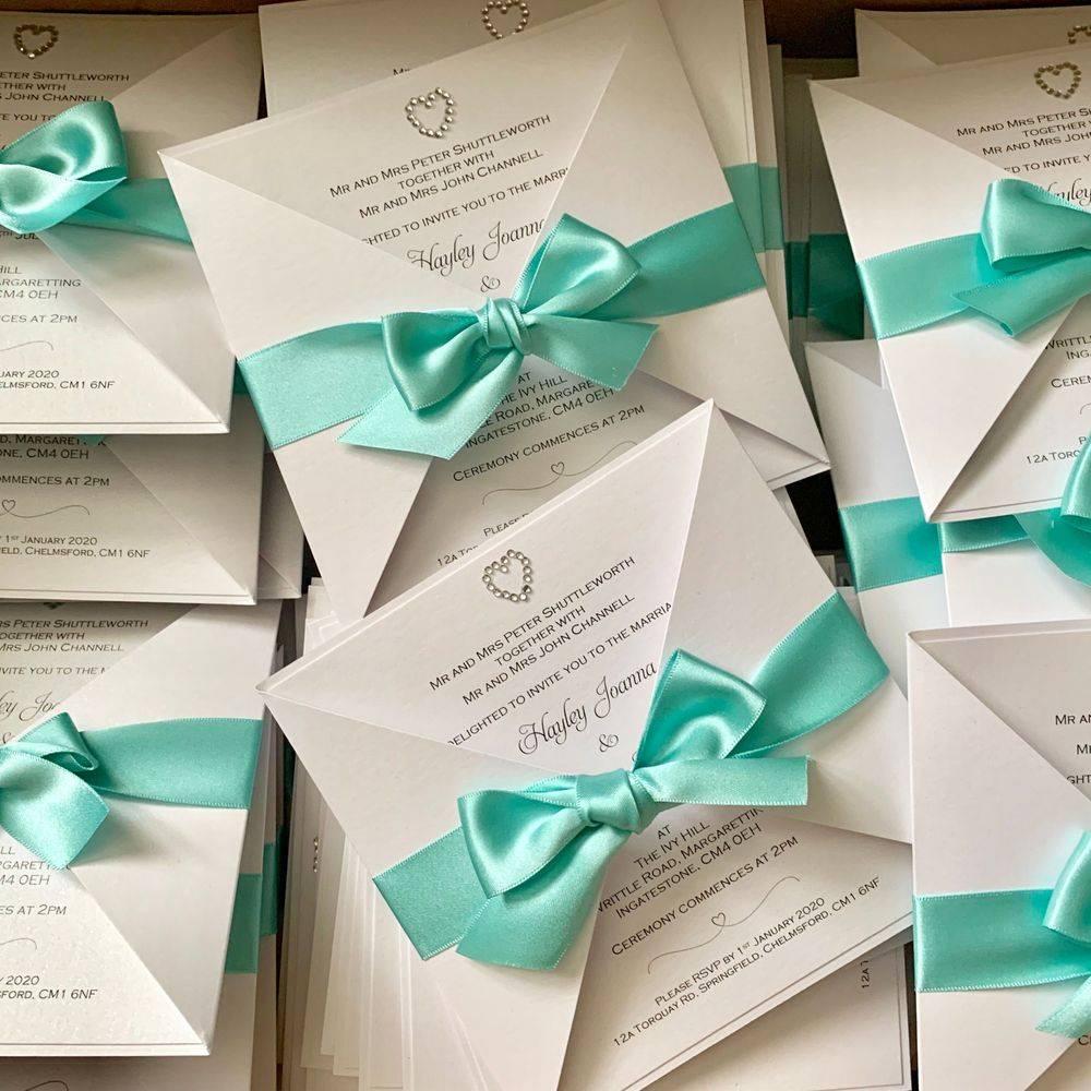 Tiffany wedding invitation