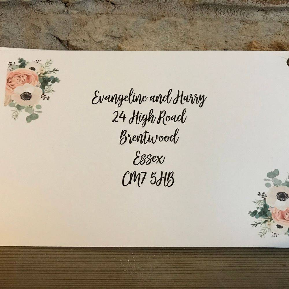 Invites with postcard RSVP