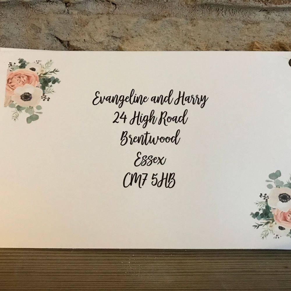 Invites with postcard RSVP