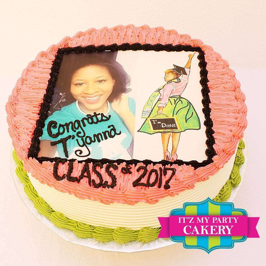 Buttercream Cake,  photo cake, edible image