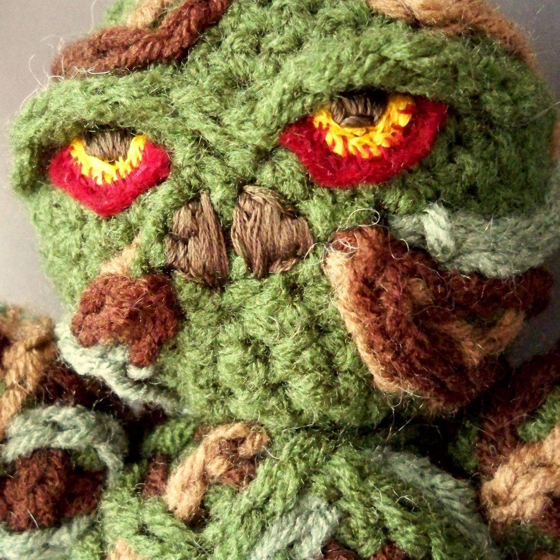 Swamp Thing, comicbook, amigurumi, plush, doll, nerd, geek, handmade, crochet