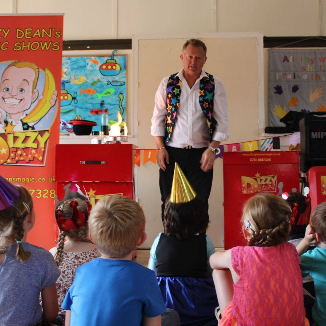 Children Watching the magic show