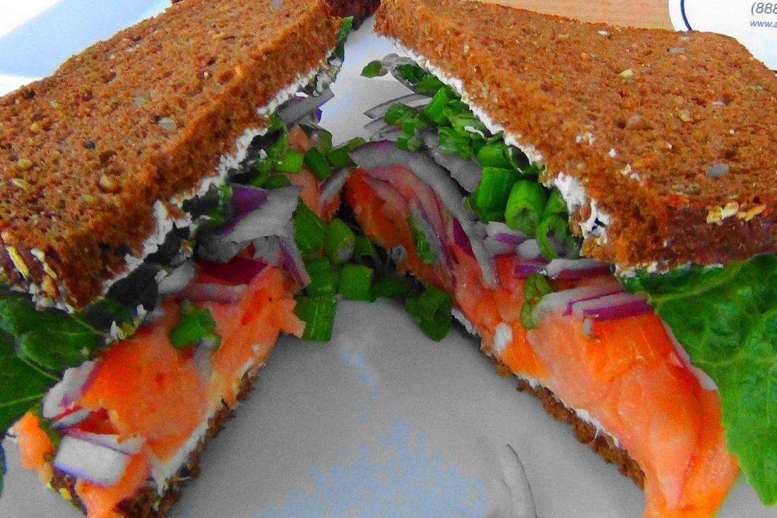 Smoked salmon sandwich catering Seattle