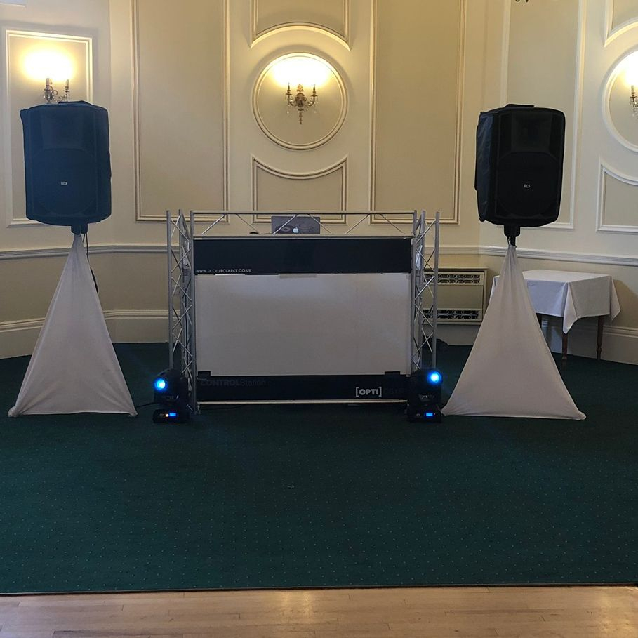 Chateau Impney Hotel #Worcesterhsire #wedding #dj #weddingentertainment #barn #barnwedding #leddancefloor