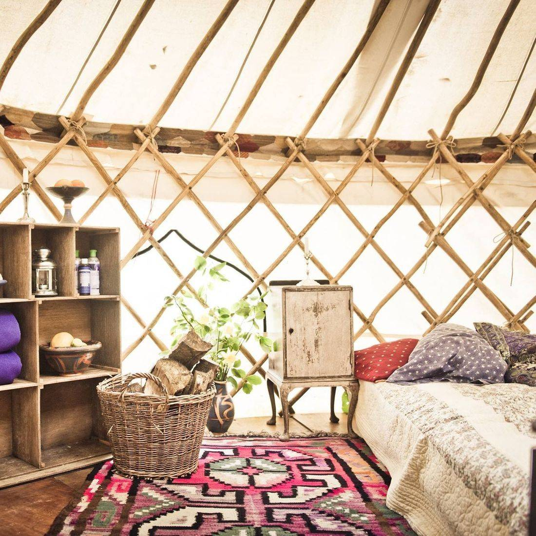 Cosy yurt Wedding accommodation for rent at Coed Hills