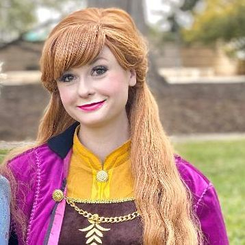 Frozen Princess Anna party character impersonator by Fairytale Friends of San Antonio