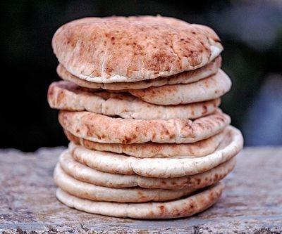 pita bread, homemade pita bread