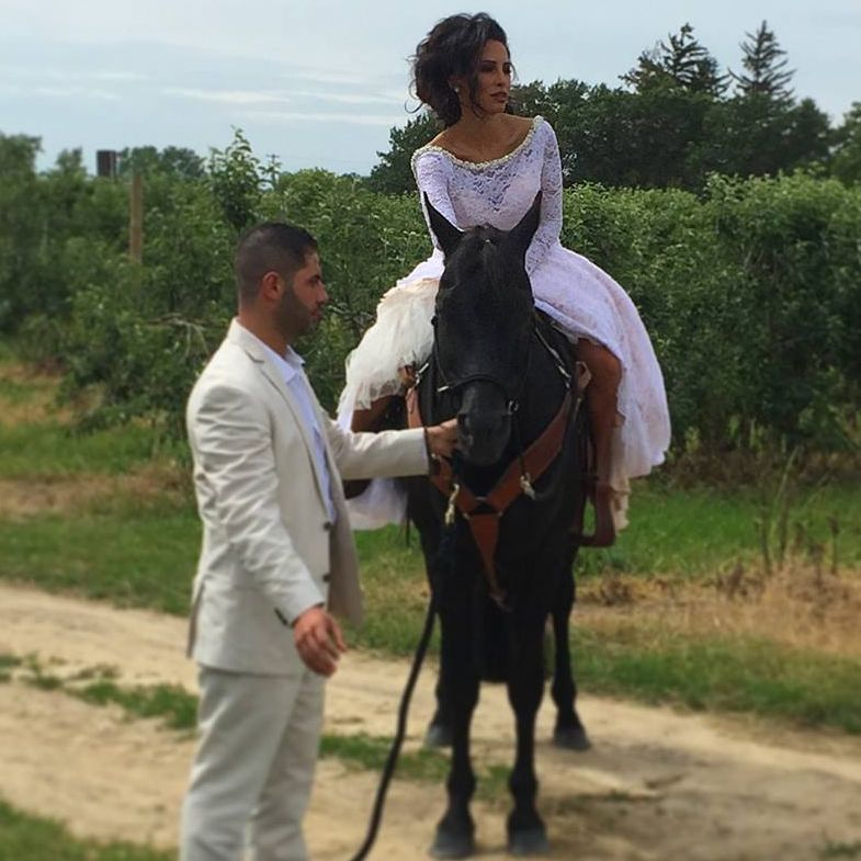 Bride on horse