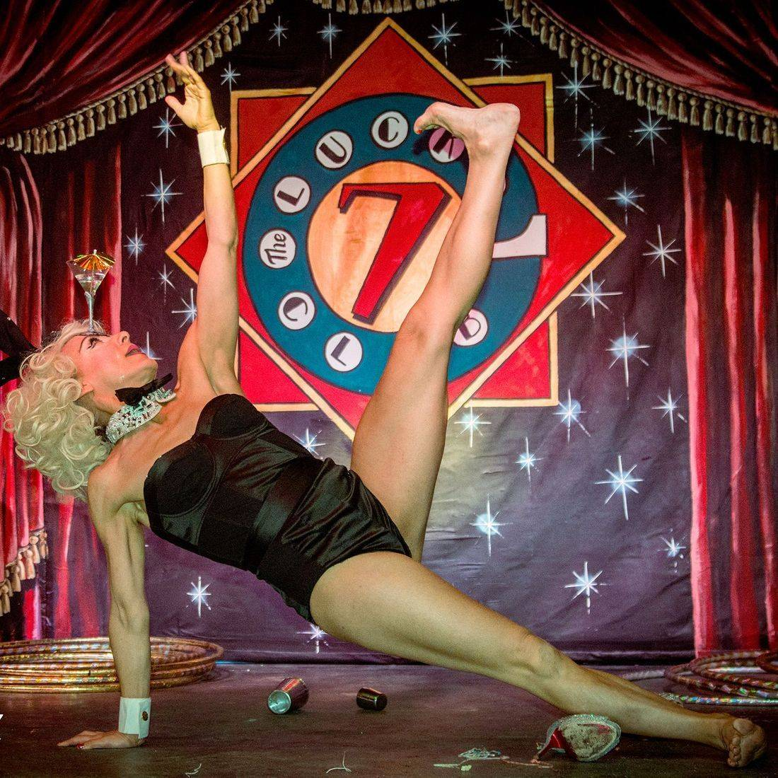 Abigail Collins, Burlesque, Torquay, Devon, Kinky & Quirky, The Lucky 7 Club, Paignton, Speakeasy