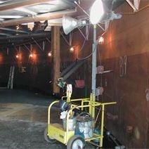 API 653 Welded storage tank Typical lighting arrangement for welded steel storage tank bottom replacement work.