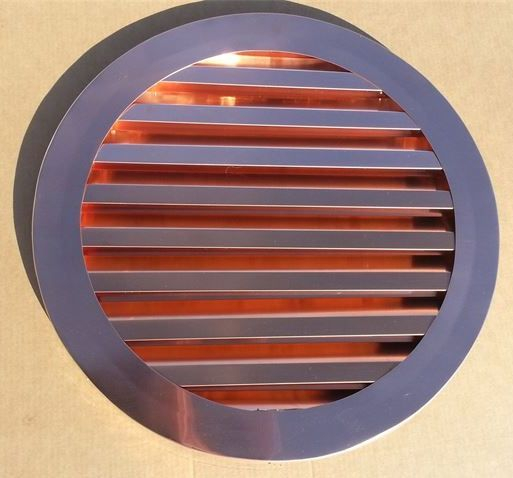 Round Copper Gable  Louver