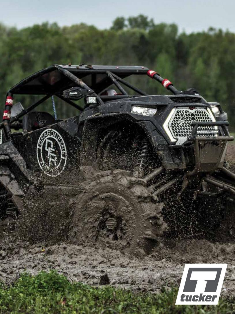 Tucker Catalog UTV going through mud