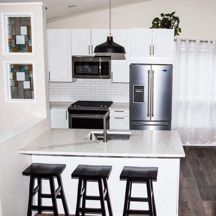 kitchen, interior design, white cabinets