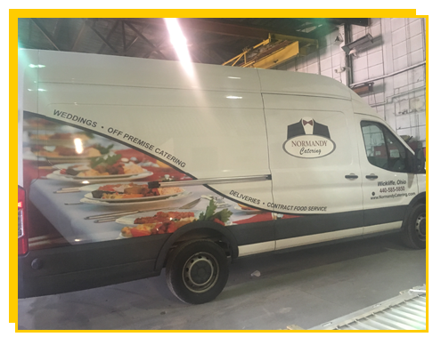 Catering van in our workshop