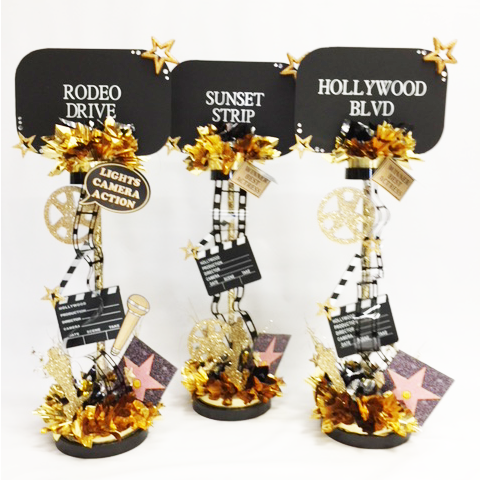 Hollywood Themed Centerpieces