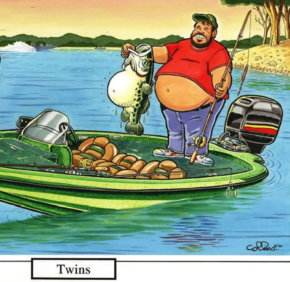 fisherman, fish, boat, bass, twins
