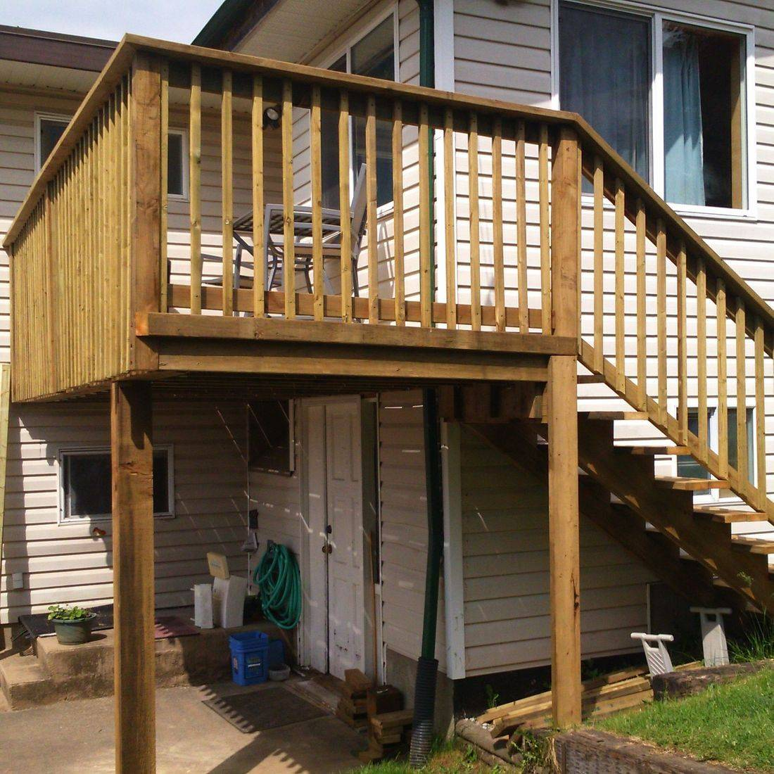 back deck and stairs