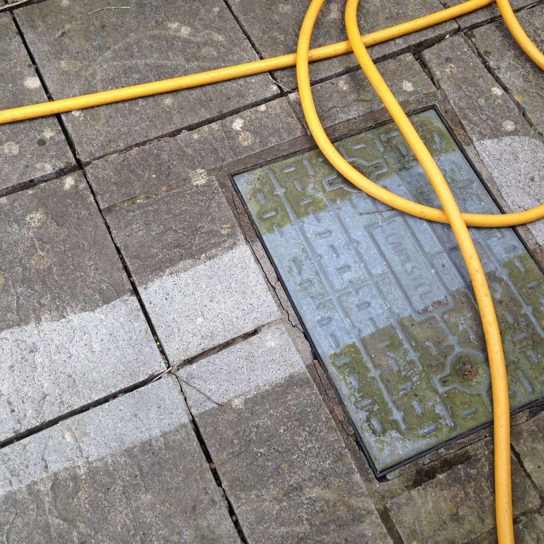 drain green algae muke muk fill hose pipe