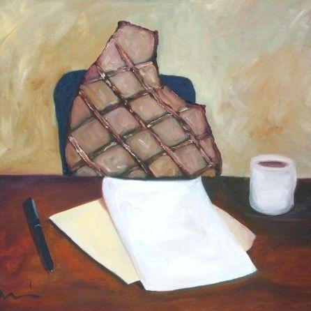 pork chop parody painting