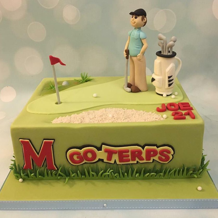 Golf Terps Birthday Celebration Novelty Cake