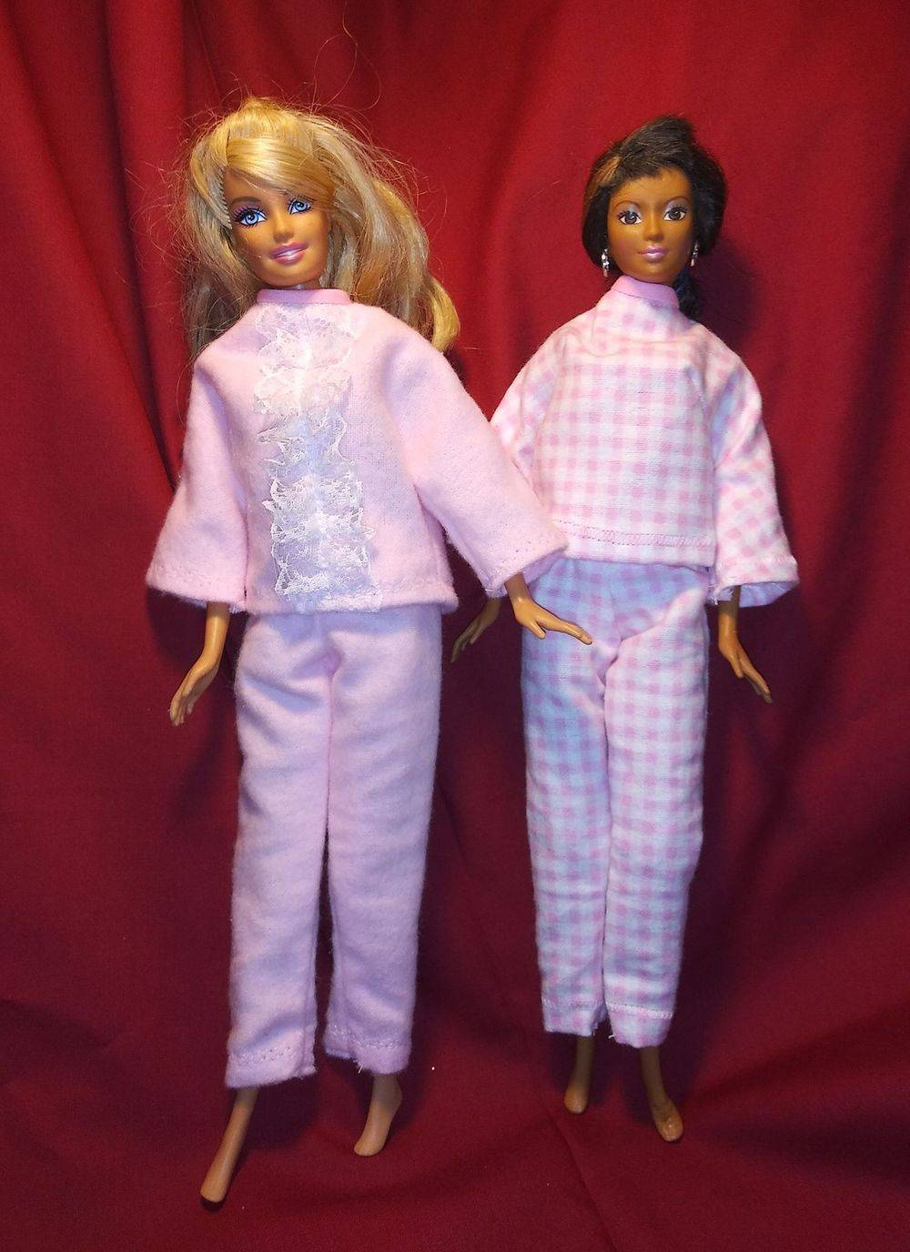 Barbie Clothes, Barbie Pajamas, Barbie Wardrobe, Handmade Barbie clothes, Handmade Doll clothes