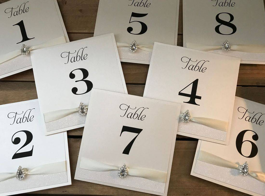 Ivory Table Number Cards