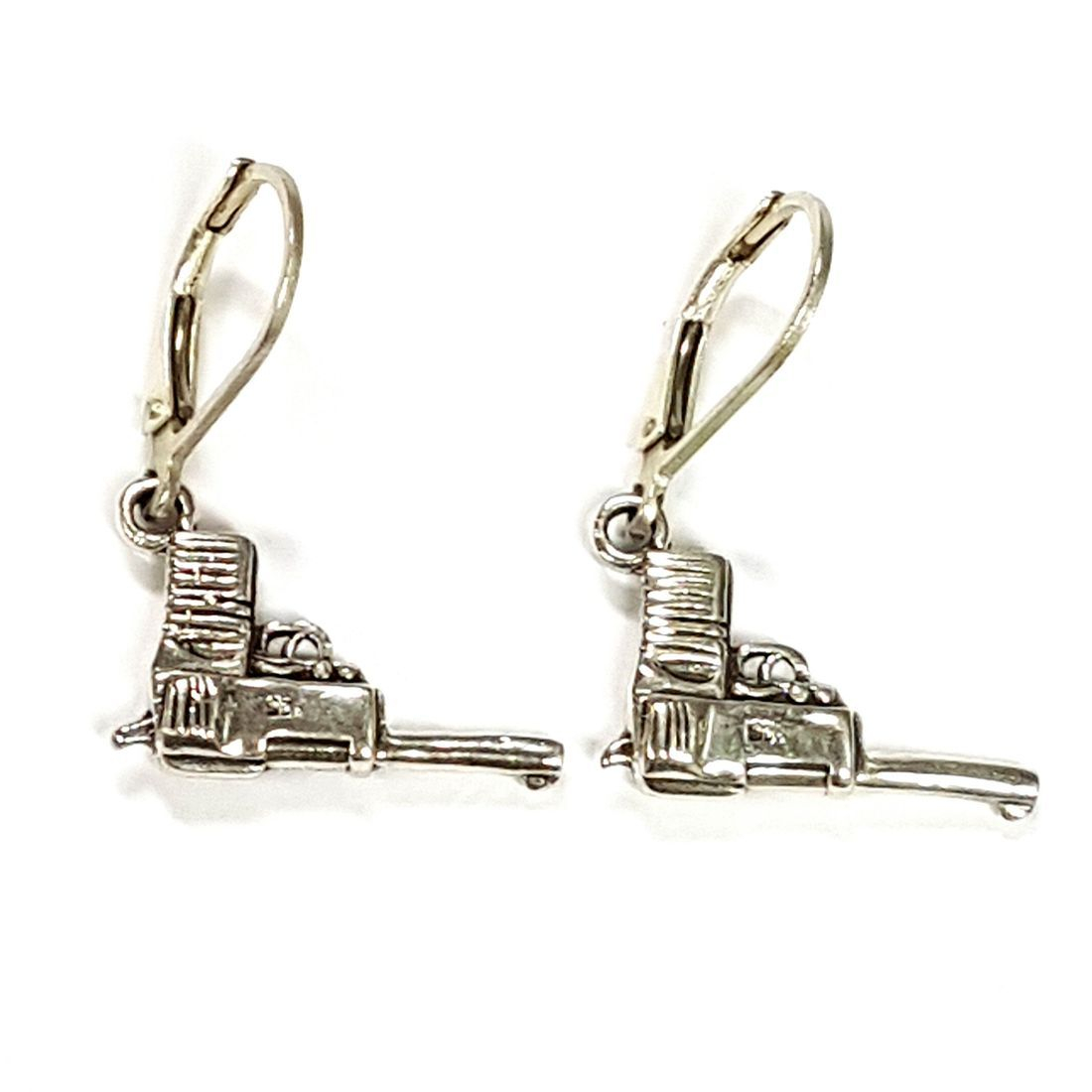 Sterling Silver Gun Earrings   available at Kazbah online and our Leicester City Centre Shop